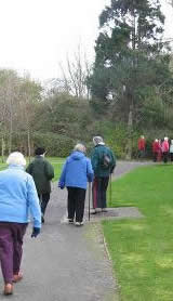 Photo of Winscombe Walkers passing through a leafy neighbourhood