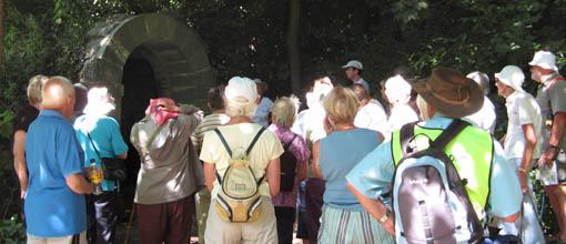 Photo of Nailsea Strollers on the Ashton Court walk. Aug. 08. Taken by Marion